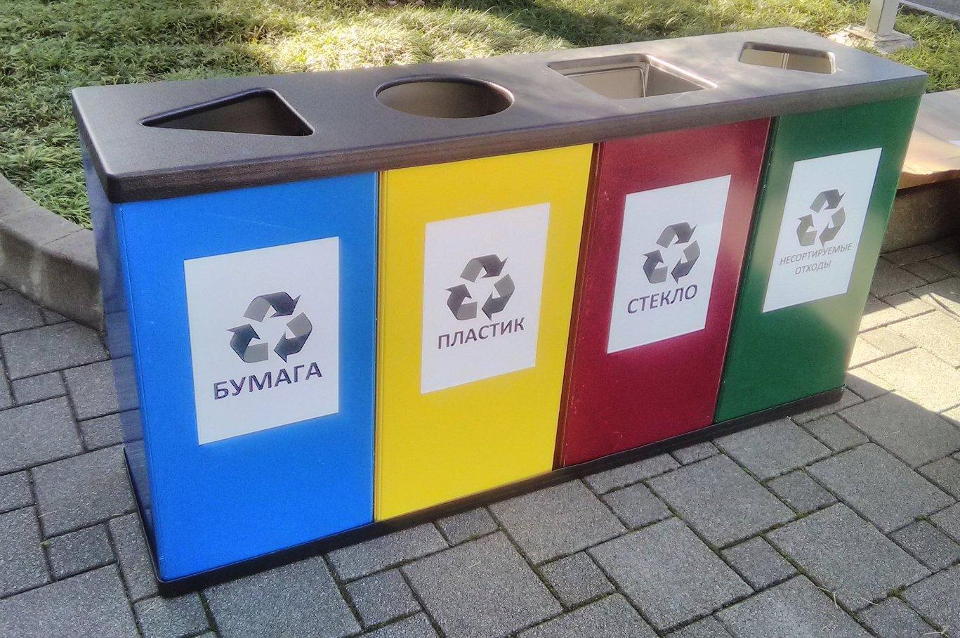 как правильно разделять мусор на даче