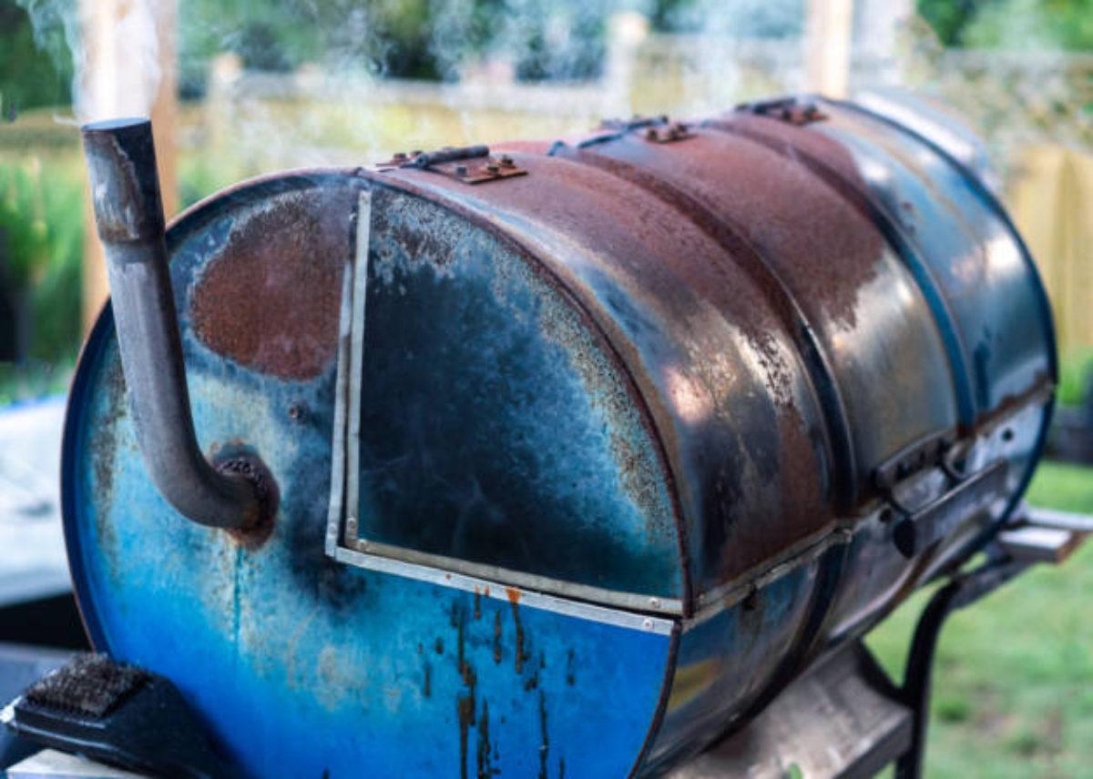 как сделать железную бочку для сжигания мусора