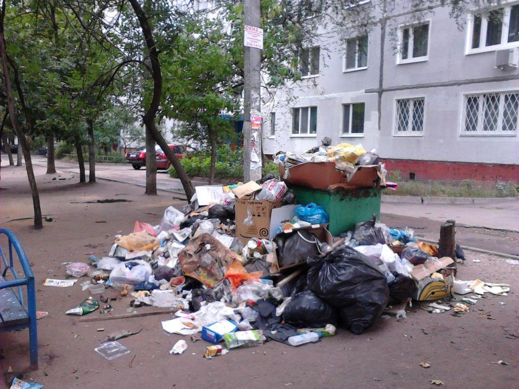 сжигание мусора в городе