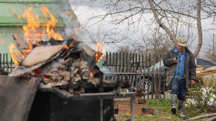 сжигание мусора в огороде (огородный мусор)