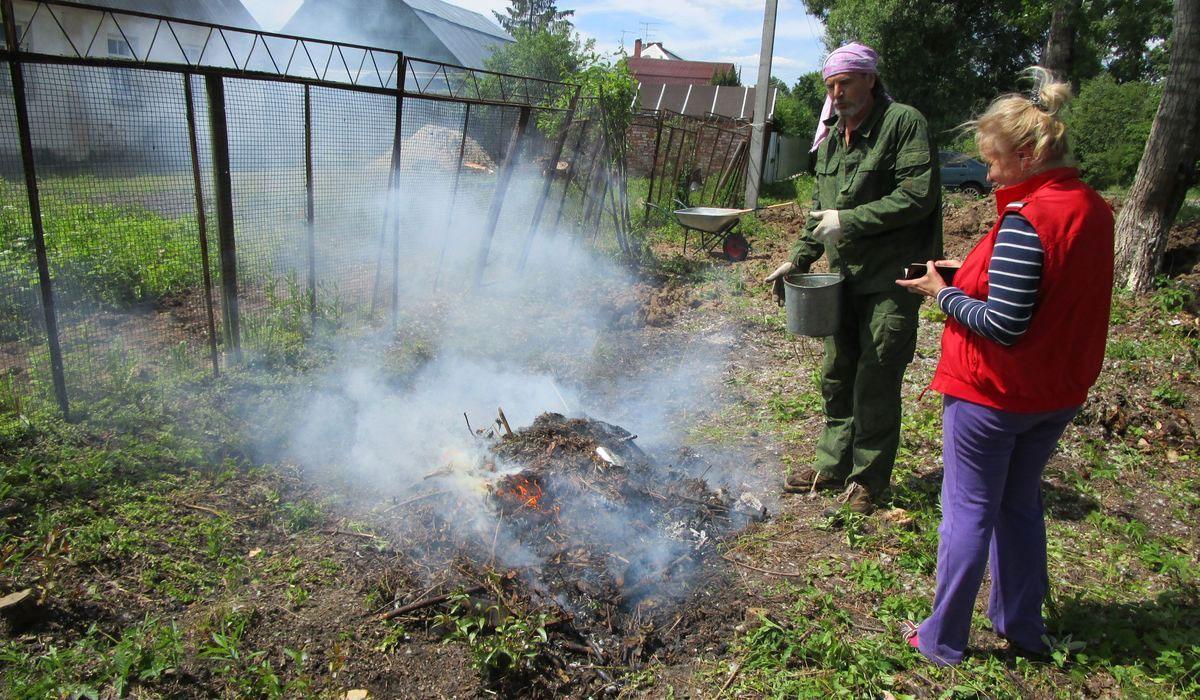 как сжечь мусор в огороде по правилам