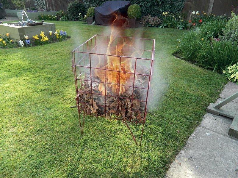 как сжигать мусор (садовый мусор) на даче (